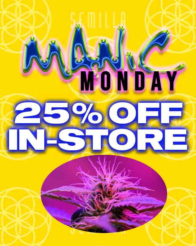 Manic Monday 25% Off In-Store
